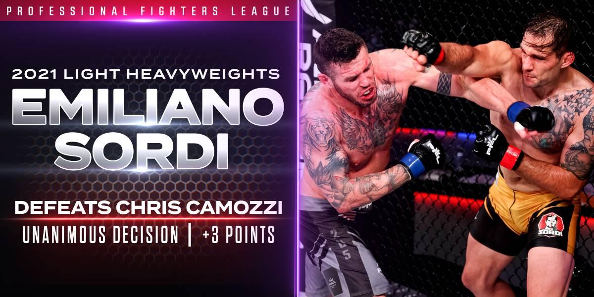 Sordi Outlasts Camozzi in Grueling Battle, Earns Three Points