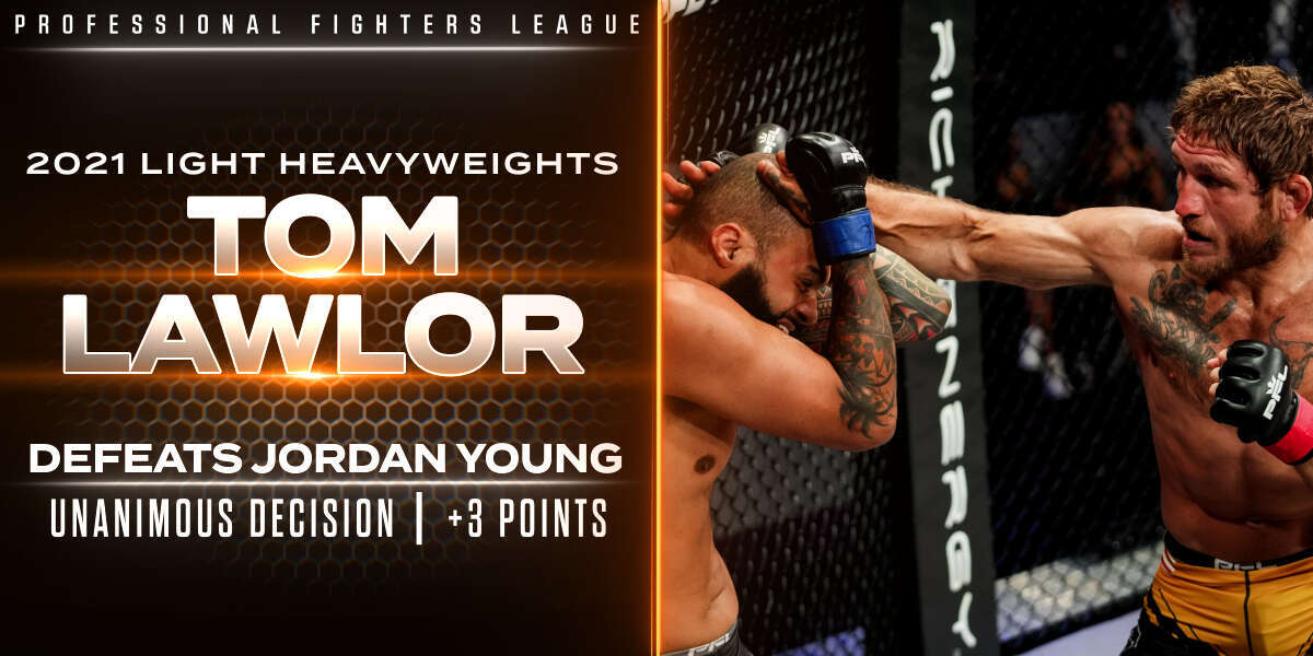 Lawlor grinds out decision win over Young