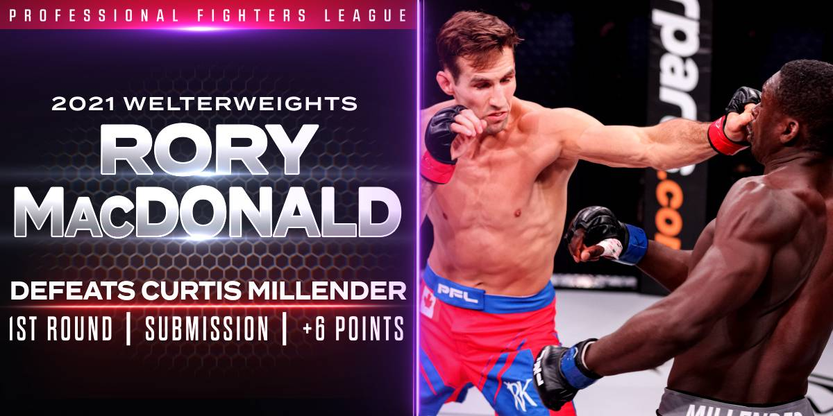 MacDonald Shines in Debut, Submits Millender for Six Points