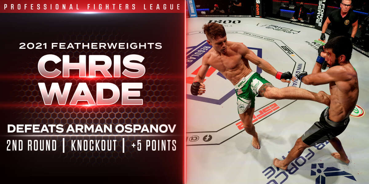 Wade locks up Playoffs spot with vicious comeback knockout of Ospanov