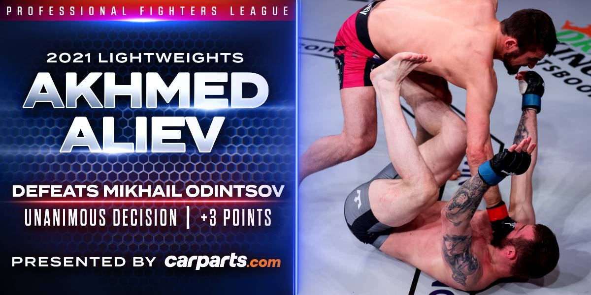 Aliev Too Much for Odintsov, Claims Decision Victory