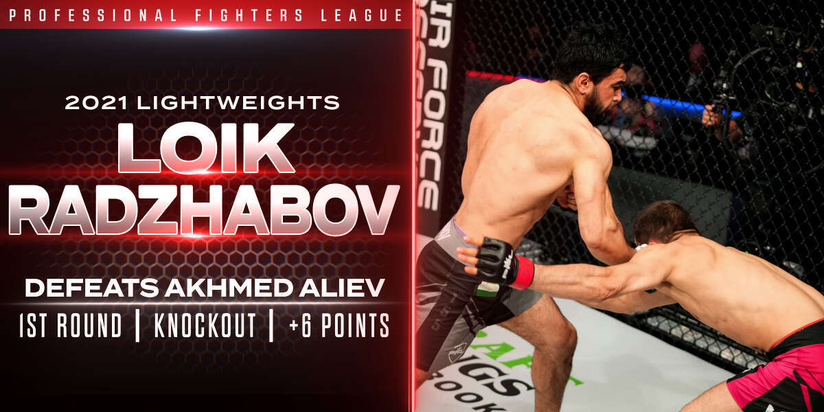 Radzhabov earns six points with 27-second stoppage of Aliev