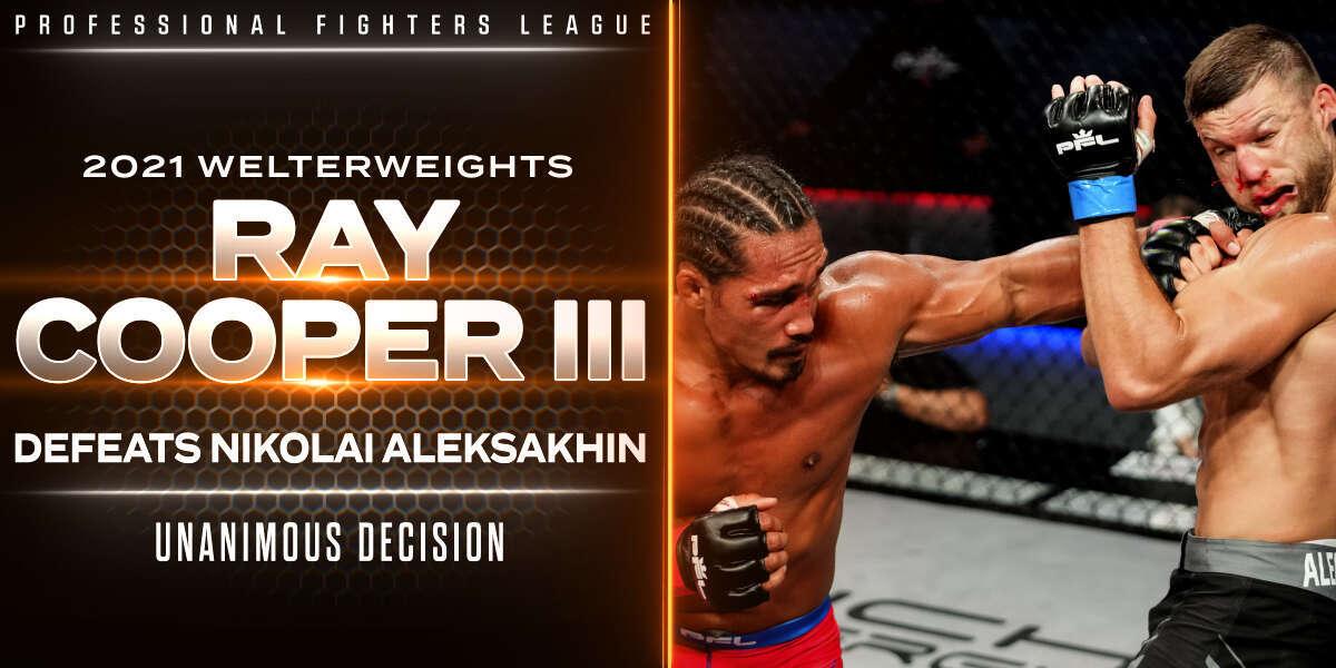 Cooper edges Aleksakhin in scrappy welterweight throwdown