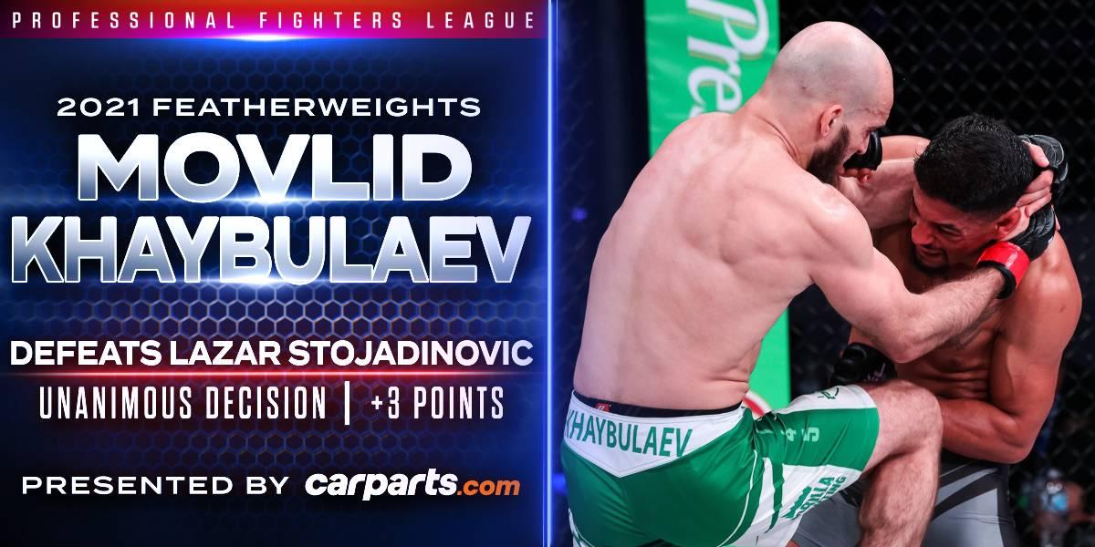 Khaybulaev Smothers Stojadinovic in Lopsided Featherweight Clash