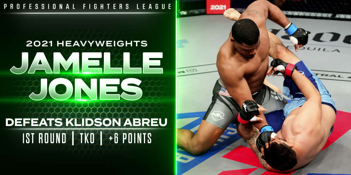 Jones smashes Abreu, earns six points with first-round finish