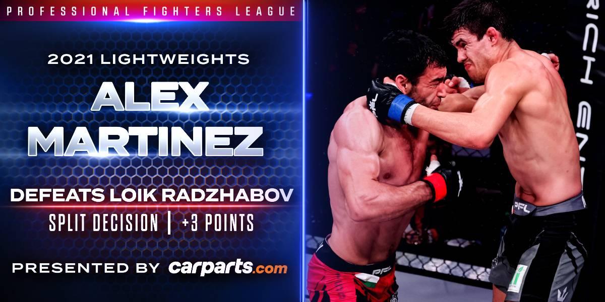 Martinez Remains Unbeaten, Edging Radzhabov by Split Decision